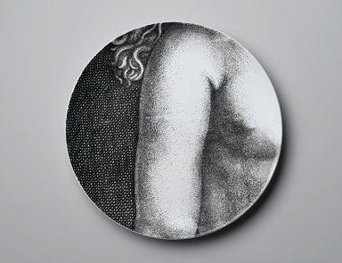 Piero Fornasetti (Italian, 1913-1988). <em>Plate, Eva</em>, ca. 1954. Glazed earthenware, 1 x 10 1/4 x 10 1/4 in. (2.5 x 26 x 26 cm). Brooklyn Museum, Gift of the Estate of Jane Adams Breed, 2005.37.16. Creative Commons-BY (Photo: Brooklyn Museum, 2005.37.16_PS2.jpg)