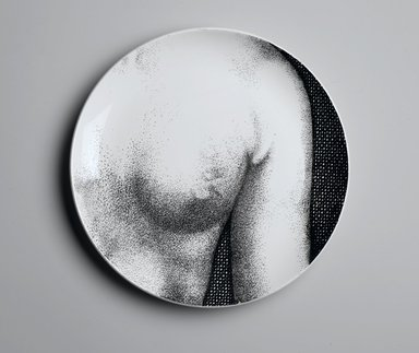Piero Fornasetti (Italian, 1913-1988). <em>Plate, Eva</em>, ca. 1954. Glazed earthenware, 1 x 10 1/4 x 10 1/4 in. (2.5 x 26 x 26 cm). Brooklyn Museum, Gift of the Estate of Jane Adams Breed, 2005.37.17. Creative Commons-BY (Photo: Brooklyn Museum, 2005.37.17_PS2.jpg)