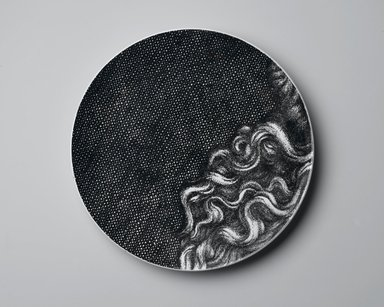 Piero Fornasetti (Italian, 1913-1988). <em>Plate, Eva</em>, ca. 1954. Glazed earthenware, 1 x 10 1/4 x 10 1/4 in. (2.5 x 26 x 26 cm). Brooklyn Museum, Gift of the Estate of Jane Adams Breed, 2005.37.18. Creative Commons-BY (Photo: Brooklyn Museum, 2005.37.18_PS2.jpg)
