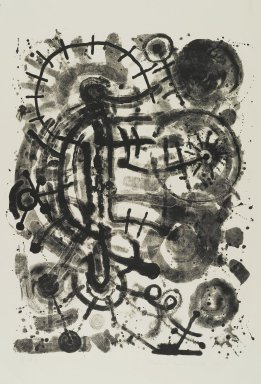 Richard Mock (American, 1944-2006). <em>Untitled</em>, 1985. Lithograph, 36 x 26 in. (91.4 x 66 cm). Brooklyn Museum, Gift of Nancy and Arnold Smoller, 2005.46.7. © artist or artist's estate (Photo: Brooklyn Museum, 2005.46.7_PS1.jpg)