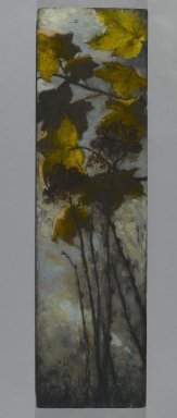 Elizabeth Boott Duveneck (American, 1846-1888). <em>Autumn Foliage</em>, 1882. Oil on wood panel, Individual Panel: 35 15/16 x 10 in. (91.3 x 25.4 cm). Brooklyn Museum, Gift of Joan Harmen Brown, Mr. and Mrs. William Slocum Davenport, Mrs. Lewis Francis, Samuel E. Haslett, William H. Herriman, Joseph Jefferson IV, Clifford L. Middleton, the New York City Police Department, Mrs. Charles D. Ruwe, Charles A. Schieren, the University Club, Mrs. Henry Wolf, Austin M. Wolf, and Hamilton A. Wolf, by exchange, Frank Sherman Benson Fund, Museum Collection Fund, Dick S. Ramsay Fund, Carll H. de Silver Fund, John B. Woodward Memorial Fund, and Designated Purchase Fund