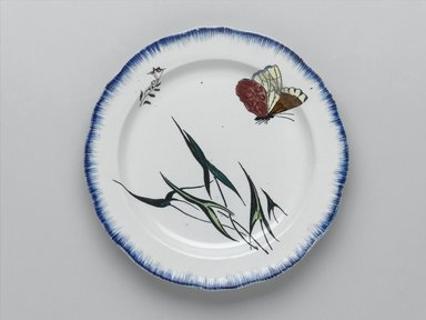 Félix Bracquemond (French, 1833-1914). <em>Plate</em>, 1866. Glazed earthenware, Height: 1 in.; diameter: 9 5/8  in. (2.5 x 24.4 cm). Brooklyn Museum, Gift of H. Blairman & Sons Ltd., 2005.62. Creative Commons-BY (Photo: Brooklyn Museum, 2005.62_PS1.jpg)