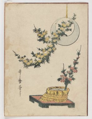 Kitagawa Utamaro (Japanese, 1753-1806). <em>Still Life: Flowers</em>, ca. 1804. Woodblock print, Image: 9 1/8 x 6 11/16 in. (23.2 x 17 cm). Brooklyn Museum, Gift of Dr. Eleanor Z. Wallace in memory of her husband, Dr. Stanley L. Wallace, 2005.79.3 (Photo: Brooklyn Museum, 2005.79.3_IMLS_PS3.jpg)