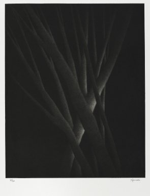 Robert Kipniss (American, born 1931). <em>Crossings</em>. Mezzotint, Sheet: 18 x 15 in. (45.7 x 38.1 cm). Brooklyn Museum, Gift of James F. White, 2006.16.3. © artist or artist's estate (Photo: Brooklyn Museum, 2006.16.3_PS4.jpg)