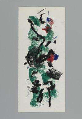 John von Wicht (American, born Germany, 1888-1970). <em>Drawing</em>, February 22, 1964., 4 x 9 in. (10.2 x 22.9 cm). Brooklyn Museum, Brooklyn Museum Collection, 2006.17.11 (Photo: Brooklyn Museum, 2006.17.11_PS2.jpg)