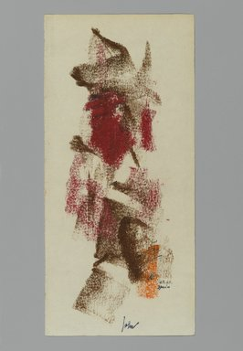 John von Wicht (American, born Germany, 1888-1970). <em>Drawing</em>, January 23, 1963., 4 x 8 3/4 in. (10.2 x 22.2 cm). Brooklyn Museum, Brooklyn Museum Collection, 2006.17.12 (Photo: Brooklyn Museum, 2006.17.12_PS2.jpg)