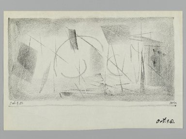 John von Wicht (American, born Germany, 1888-1970). <em>Drawing</em>, 1951., 5 1/2 x 8 1/2 in. (14 x 21.6 cm). Brooklyn Museum, Brooklyn Museum Collection, 2006.17.19 (Photo: Brooklyn Museum, 2006.17.19_PS2.jpg)