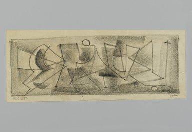 John von Wicht (American, born Germany, 1888-1970). <em>Drawing</em>, 1951., 4 3/8 x 11 in. (11.1 x 27.9 cm). Brooklyn Museum, Brooklyn Museum Collection, 2006.17.21 (Photo: Brooklyn Museum, 2006.17.21_PS2.jpg)