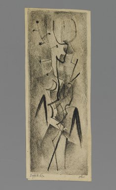 John von Wicht (American, born Germany, 1888-1970). <em>Drawing</em>, September 8, 1951., 4 x 10 3/8 in. (10.2 x 26.4 cm). Brooklyn Museum, Brooklyn Museum Collection, 2006.17.22 (Photo: Brooklyn Museum, 2006.17.22_PS1.jpg)