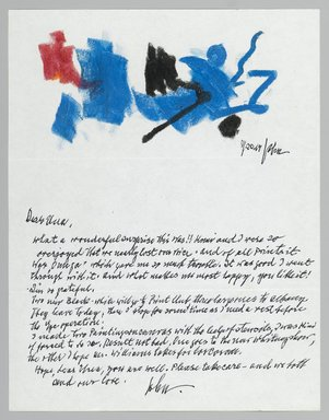 John von Wicht (American, born Germany, 1888-1970). <em>Letter with Drawing</em>, November 20, 1967., 8 1/2 x 11 in. (21.6 x 27.9 cm). Brooklyn Museum, Brooklyn Museum Collection, 2006.17.5 (Photo: Brooklyn Museum, 2006.17.5_PS2.jpg)