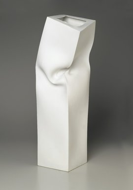 Kang Suk Young (Korean, born 1949). <em>Untitled</em>, 1992. Unglazed porcelain, 24 13/16 x 6 x 6 in. (63 x 15.3 x 15.3 cm). Brooklyn Museum, Purchased with funds given by Dr. and Mrs. Richard Dickes, 2006.20 (Photo: Brooklyn Museum, 2006.20_PS2.jpg)