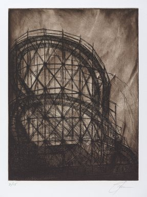 Stephen A. Fredericks (American, born 1954). <em>[Untitled] (Cyclone)</em>, 2006. Etching, 17 x 15 in. (43.2 x 38.1 cm). Brooklyn Museum, Gift of Stephen A. Fredericks, 2006.30.6. © artist or artist's estate (Photo: Brooklyn Museum, 2006.30.6_PS9.jpg)