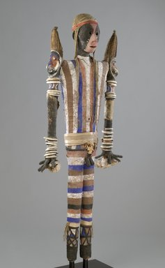Malakula. <em>Effigy Figure (Rambaramp)</em>, before 1880. Wood, fiber, mud, pigment, bone, shell, boar tusks, 60 5/8 x 25 3/16 x 8 11/16 in. (154 x 64 x 22 cm). Brooklyn Museum, Gift of Dr. Samuel Eilenberg, by exchange and Mary Smith Dorward Fund, 2006.41. Creative Commons-BY (Photo: Brooklyn Museum, 2006.41_PS6.jpg)