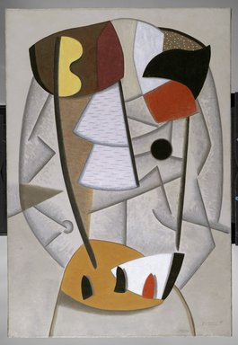 George Lovett Kingsland Morris (American, 1905-1975). <em>Indian Composition No. 6</em>, 1938. Oil on canvas, 48 x 33 in. (121.9 x 83.8 cm). Brooklyn Museum, Bequest of Laura L. Barnes and gift of Mr. and Mrs. Allan D. Emil, by exchange and Dick S. Ramsay Fund, 2006.42. © artist or artist's estate (Photo: Brooklyn Museum, 2006.42_PS2.jpg)