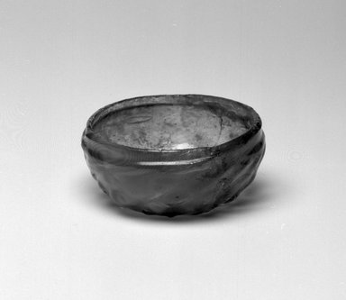 <em>Megelin</em>, late 15th-early 16th century. Glass, height: 1 3/8 in.  (3.5 cm); diameter: 3 1/8 in. (7.9 cm). Brooklyn Museum, Gift of Wunsch Foundation, Inc., 2006.82.6. Creative Commons-BY (Photo: Brooklyn Museum, 2006.82.6_bw.jpg)