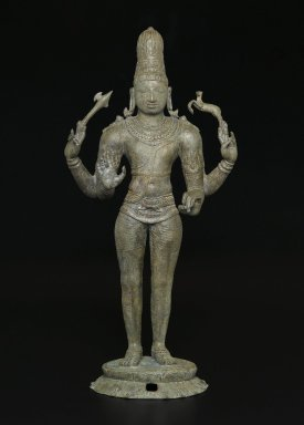 <em>Shiva as Chandrashekhara</em>, ca. 970 C.E. Bronze, 25 3/4 x 12 x 7 3/4 in., 50.5 lb. (65.4 x 30.5 x 19.7 cm, 22.91kg). Brooklyn Museum, Gift of the Asian Art Council in honor of Amy G. Poster; additional funding from bequest of Dr. Samuel Eilenberg, by exchange; Bertram H. Schaffner Asian Art Fund; and gift of Dr. Andrew Dahl, David Ellis, Benjamin S. Faber, Martha M. Green, Dr. and Mrs. Eugene Halpert, Stanley J. Love, Anthony A. Manheim, Mabel Reiner, and Chi Tiew-lui, by exchange