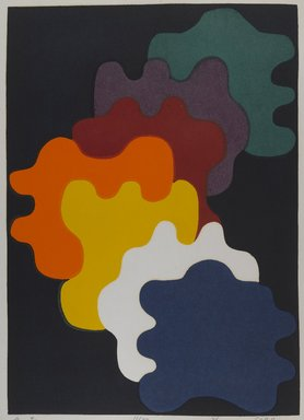 Sora Mitsuaki (Japanese, born 1933). <em>[Untitled] (Abstract Image in Eight Colors)</em>, 1976. Print, Other (Sight): 22 15/16 x 16 11/16 in. (58.3 x 42.4 cm). Brooklyn Museum, Gift of the Estate of Dr. Eleanor Z. Wallace, 2007.32.107. © artist or artist's estate (Photo: Brooklyn Museum, 2007.32.107_PS4.jpg)