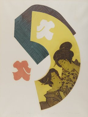 Ouchi Makoto (Japanese, 1926-1989). <em>Fan-2</em>. Print, mat: 22 3/8 x 17 3/8 in. (56.8 x 44.1 cm). Brooklyn Museum, Gift of the Estate of Dr. Eleanor Z. Wallace, 2007.32.123 (Photo: Brooklyn Museum, 2007.32.123_PS4.jpg)