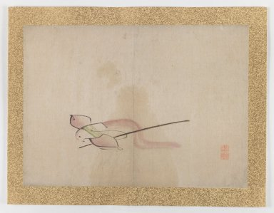 Nishiyama Hoen (Japanese, 1804-1867). <em>[Untitled] (Toy Bird?)</em>, 1855. Ink and light color on paper, 10 3/4 x 14 7/8 in. (27.3 x 37.8 cm). Brooklyn Museum, Gift of the Estate of Dr. Eleanor Z. Wallace, 2007.32.44 (Photo: Brooklyn Museum, 2007.32.44_IMLS_PS3.jpg)