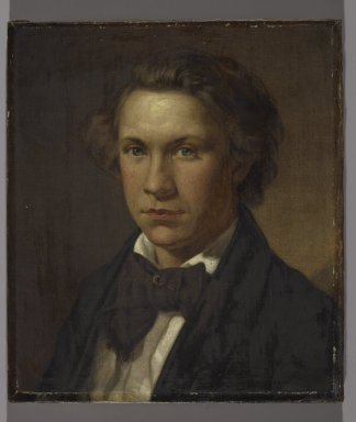 John Barnard Whittaker (American, 1836-1926). <em>Portrait of a Man</em>, 1859. Oil on canvas, Image: 15 3/8 x 13 3/8 in. (39.1 x 34 cm). Brooklyn Museum, Gift of Dr. Clark S. Marlor, 2007.52.1 (Photo: Brooklyn Museum, 2007.52.1_PS2.jpg)