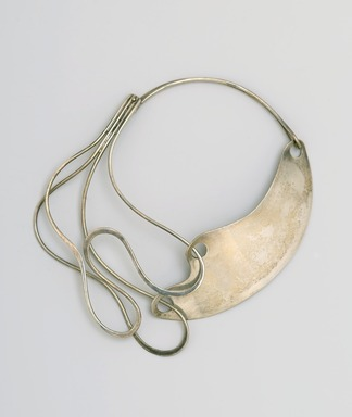 "Art Smith (American, born Cuba, 1917-1982). <em>""Half & Half"" Necklace</em>, designed by 1948. Silver, 6 11/16 x 7 9/16 x 7/8 in. (17 x 19.2 x 2.2 cm). Brooklyn Museum, Gift of Mark McDonald with thanks to Charles L. Russell, 2007.59. Creative Commons-BY (Photo: Brooklyn Museum, 2007.59_PS2.jpg)"