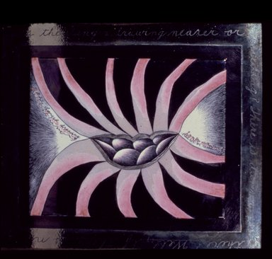 Judy Chicago (American, born 1939). <em>Is the Danger Drawing Nearer or Receeding, Six Views from the Womantree</em>, 1975. China paint on porcelain, frame: 16 x 14 in. (40.6 x 35.6 cm). Brooklyn Museum, Gift of Mary Ross Taylor, 2007.6.1. © artist or artist's estate (Photo: Brooklyn Museum, 2007.6.1_slide_SL3.jpg)