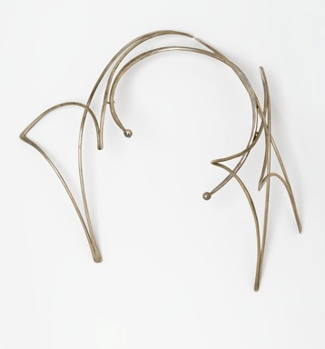 Art Smith (American, born Cuba, 1917-1982). <em>Last Necklace</em>, 1979. Silver, two hard stones, 9 7/8 x 11 1/4 x 4 1/4 in. (25.1 x 28.6 x 10.8 cm). Brooklyn Museum, Gift of Charles L. Russell, 2007.61.11. Creative Commons-BY (Photo: Brooklyn Museum, 2007.61.11_PS2.jpg)