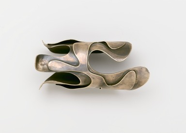 "Art Smith (American, born Cuba, 1917-1982). <em>""Lava"" Bracelet</em>, designed ca. 1946. Silver, 2 1/2 x 2 5/8 x 5 3/4 in. (6.4 x 6.7 x 14.6 cm). Brooklyn Museum, Gift of Charles L. Russell, 2007.61.16. Creative Commons-BY (Photo: Brooklyn Museum, 2007.61.16_PS2.jpg)"