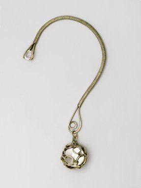 "Art Smith (American, born Cuba, 1917-1982). <em>""Bauble"" Necklace</em>, ca. 1953. Silver, colorless quartz, 9 1/8 x 4 7/8 x 1/2 in. (23.2 x 12.4 x 1.3 cm). Brooklyn Museum, Gift of Charles L. Russell, 2007.61.7. Creative Commons-BY (Photo: Brooklyn Museum, 2007.61.7_PS2.jpg)"