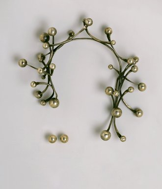 Art Smith (American, born Cuba, 1917-1982). <em>Galaxy Earrings</em>, ca. 1962. Silver, 5/8 x 5/8 x 1 in. (1.6 x 1.6 x 2.5 cm) for each earring. Brooklyn Museum, Gift of Charles L. Russell, 2007.61.20a-b. Creative Commons-BY (Photo: , 2007.61.8_2007.61.20a-b_PS2.jpg)