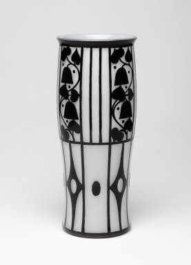 Josef Hoffmann (Austrian, 1870-1956). <em>Vase</em>, 1912. Glass, 8 1/8 x 3 1/4 in. (20.6 x 8.3 cm). Brooklyn Museum, Gift of Frederick A. McConkey, 2007.67.1. Creative Commons-BY (Photo: Brooklyn Museum, 2007.67.1_view1_PS2.jpg)
