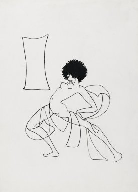 Richard Bruce Nugent (American, 1906-1987). <em>Salome Dancing</em>, ca. 1925-1930. Ink over graphite on paper, 14 3/8 x 10 15/16 in. (36.5 x 27.8 cm). Brooklyn Museum, Gift of Dr. Thomas H. Wirth, gift of Frederick J. Adler, by exchange, bequest of Richard J. Kempe, by exchange, and gift of Abraham Walkowitz, by exchange, 2008.50.1 (Photo: Brooklyn Museum, 2008.50.1_PS2.jpg)