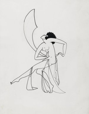 Richard Bruce Nugent (American, 1906-1987). <em>Salome Dancing</em>, ca. 1925-1930. Ink over graphite on paper, 14 1/2 x 10 3/4 in. (36.8 x 27.3 cm). Brooklyn Museum, Gift of Dr. Thomas H. Wirth, gift of Frederick J. Adler, by exchange, bequest of Richard J. Kempe, by exchange, and gift of Abraham Walkowitz, by exchange, 2008.50.2 (Photo: Brooklyn Museum, 2008.50.2_PS2.jpg)