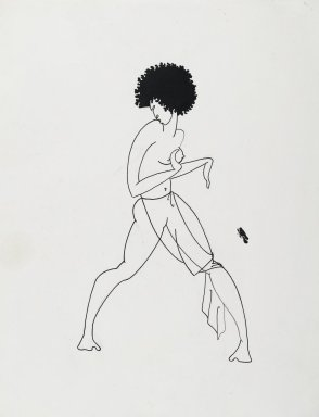 Richard Bruce Nugent (American, 1906-1987). <em>Salome Dancing</em>, ca. 1925-1930. Ink over graphite on paper, 14 7/16 x 10 15/16 in. (36.7 x 27.8 cm). Brooklyn Museum, Gift of Dr. Thomas H. Wirth, gift of Frederick J. Adler, by exchange, bequest of Richard J. Kempe, by exchange, and gift of Abraham Walkowitz, by exchange, 2008.50.4 (Photo: Brooklyn Museum, 2008.50.4_PS2.jpg)