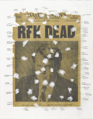 Nari Ward (Jamaican, born 1963). <em>American Snow Series II</em>, 2006. Newspaper, Wite-out and tissue paper, 18 x 14 in. (45.7 x 35.6 cm). Brooklyn Museum, Gift of Christos G. Bastis, by exchange, 2008.52.4. © artist or artist's estate (Photo: Brooklyn Museum, 2008.52.4_PS4.jpg)