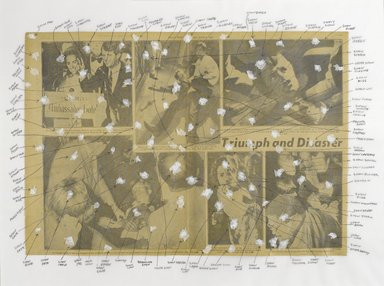 Nari Ward (Jamaican, born 1963). <em>American Snow Series III</em>, 2006. Newspaper, Wite-out and tissue paper, 19 x 26 in. (48.3 x 66 cm). Brooklyn Museum, Gift of Christos G. Bastis, by exchange, 2008.52.5. © artist or artist's estate (Photo: Brooklyn Museum, 2008.52.5_PS4.jpg)