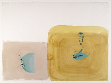 Amy Sillman (American, born 1955). <em>30 Drawings</em>, 2001-2002. Acrylic and opaque watercolor on paper, Each: 22 x 30 in. (55.9 x 76.2 cm). Brooklyn Museum, Purchase gift of John and Barbara Vogelstein, Norman and Arline Feinberg, Stephanie and Tim Ingrassia, and Phillip and Tracey Riese, 2008.53.2a-dd. © artist or artist's estate (Photo: , 2008.53.2k_PS6.jpg)