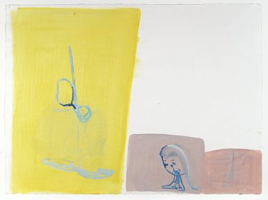 Amy Sillman (American, born 1955). <em>30 Drawings</em>, 2001-2002. Acrylic and opaque watercolor on paper, Each: 22 x 30 in. (55.9 x 76.2 cm). Brooklyn Museum, Purchase gift of John and Barbara Vogelstein, Norman and Arline Feinberg, Stephanie and Tim Ingrassia, and Phillip and Tracey Riese, 2008.53.2a-dd. © artist or artist's estate (Photo: , 2008.53.2l_PS6.jpg)