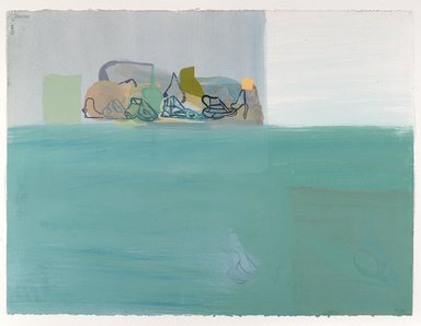 Amy Sillman (American, born 1955). <em>30 Drawings</em>, 2001-2002. Acrylic and opaque watercolor on paper, Each: 22 x 30 in. (55.9 x 76.2 cm). Brooklyn Museum, Purchase gift of John and Barbara Vogelstein, Norman and Arline Feinberg, Stephanie and Tim Ingrassia, and Phillip and Tracey Riese, 2008.53.2a-dd. © artist or artist's estate (Photo: , 2008.53.2m_PS6.jpg)