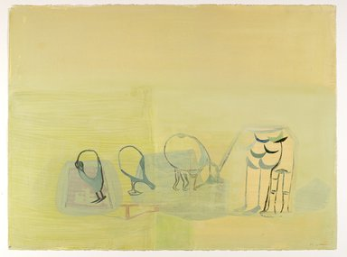 Amy Sillman (American, born 1955). <em>30 Drawings</em>, 2001-2002. Acrylic and opaque watercolor on paper, Each: 22 x 30 in. (55.9 x 76.2 cm). Brooklyn Museum, Purchase gift of John and Barbara Vogelstein, Norman and Arline Feinberg, Stephanie and Tim Ingrassia, and Phillip and Tracey Riese, 2008.53.2a-dd. © artist or artist's estate (Photo: , 2008.53.2t_PS6.jpg)
