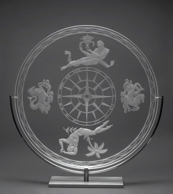 Sidney Biehler Waugh (1904-1963). <em>Mariner's Bowl</em>, 1935. Glass, 2 1/4 x 15 1/2 in. (5.7 x 39.4 cm). Brooklyn Museum, Gift of John C. Waddell, 2008.89.3. Creative Commons-BY (Photo: Brooklyn Museum, 2008.89.3_PS2.jpg)