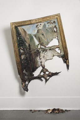 Valerie Hegarty (American, born 1967). <em>Fallen Bierstadt</em>, 2007. Foamcore, paint, paper, glue, gel medium, canvas, wire, wood, 2008.9a Wall piece: 70 × 50 × 16 3/4 in. (177.8 × 127 × 42.5 cm). Brooklyn Museum, Gift of Campari, USA, 2008.9a-b. © artist or artist's estate (Photo: , 2008.9a-b_PS11.jpg)
