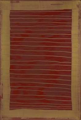 Mary Heilmann (American, born 1940). <em>Blinds</em>, 1975. Oil on canvas, overall: 72 1/4 × 48 3/4 × 1/2 in. (183.5 × 123.8 × 1.3 cm). Brooklyn Museum, Gift of The Solomon Foundation, 2009.7.3. © artist or artist's estate (Photo: , 2009.7.3_PS9.jpg)