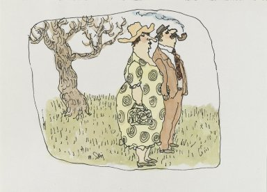 William Steig (American, 1907-2003). <em>[Untitled] (Pipe Smoker)</em>. Brooklyn Museum, Gift of Jeanne Steig, 2010.20.104. © artist or artist's estate (Photo: Brooklyn Museum, 2010.20.104_PS4.jpg)