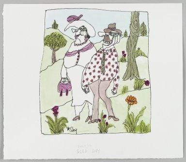 William Steig (American, 1907-2003). <em>[Untitled] (Glad Day)</em>. Brooklyn Museum, Gift of Jeanne Steig, 2010.20.105. © artist or artist's estate (Photo: Brooklyn Museum, 2010.20.105_PS4.jpg)