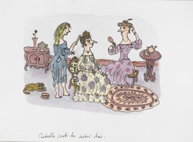 William Steig (American, 1907-2003). <em>[Untitled] (Cinderella Scene)</em>. Brooklyn Museum, Gift of Jeanne Steig, 2010.20.31. © artist or artist's estate (Photo: Brooklyn Museum, 2010.20.31_PS4.jpg)
