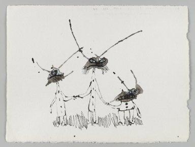 William Steig (American, 1907-2003). <em>[Untitled] (Martians)</em>. Brooklyn Museum, Gift of Jeanne Steig, 2010.20.3. © artist or artist's estate (Photo: Brooklyn Museum, 2010.20.3_PS4.jpg)