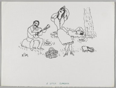 William Steig (American, 1907-2003). <em>[Untitled] (A Little Flamenco)</em>. Brooklyn Museum, Gift of Jeanne Steig, 2010.20.83. © artist or artist's estate (Photo: Brooklyn Museum, 2010.20.83_PS4.jpg)