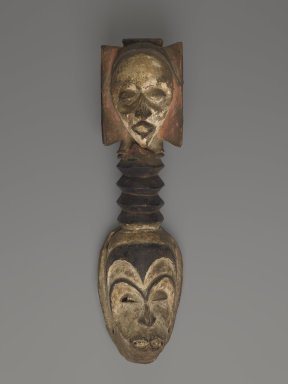 Igbo. <em>Okorossia Mask</em>, ca. early 20th century. Wood, pigment, 25 1/2 x 5 1/2 x 5 in. (64.8 x 14 x 12.7 cm). Brooklyn Museum, Gift of the Coltrera Collection, 2010.22.3. Creative Commons-BY (Photo: Brooklyn Museum, 2010.22.3_PS6.jpg)