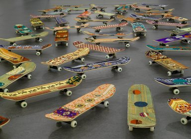 Mounir Fatmi (Moroccan, born 1970). <em>Maximum Sensation</em>, 2010. Plastic, metal, textile